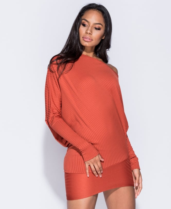 Tia Batwing Sleeve Asymmetric Dress