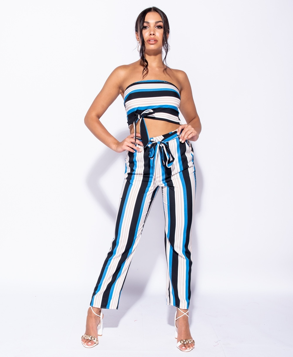 Julia Multi Stripe High Waist Pants