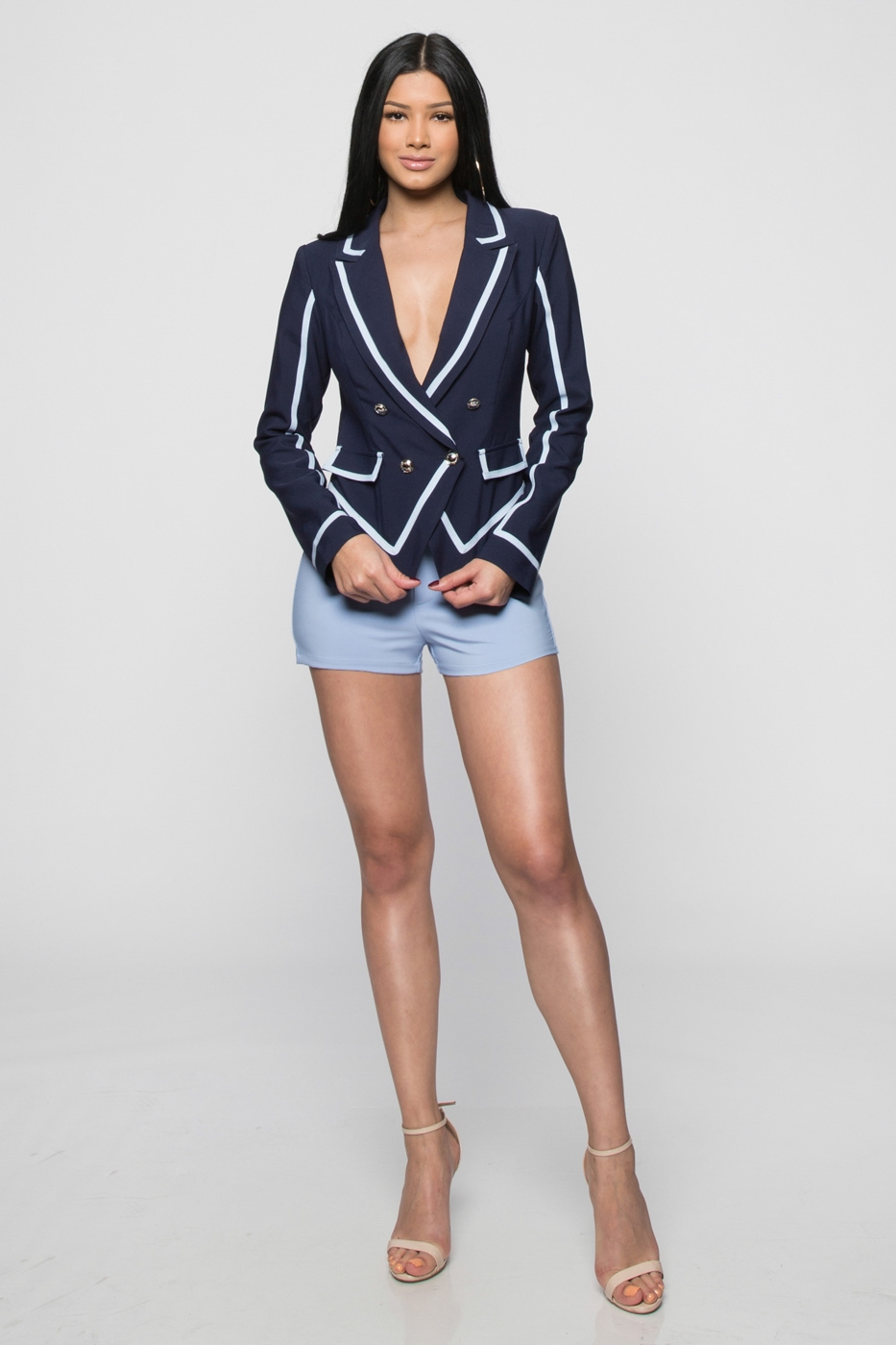 Nina Colorblock Double Breasted Blazer