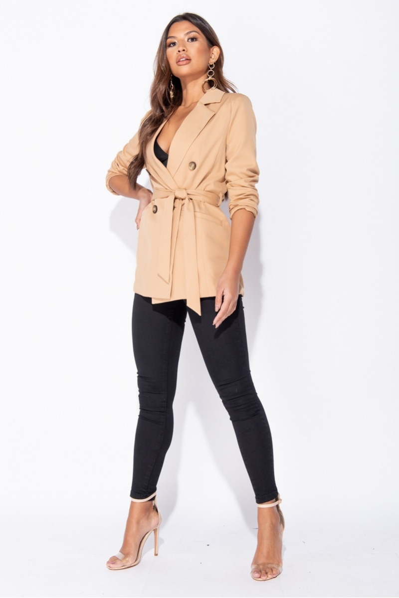 Jane Long Sleeve Double Breasted Blazer