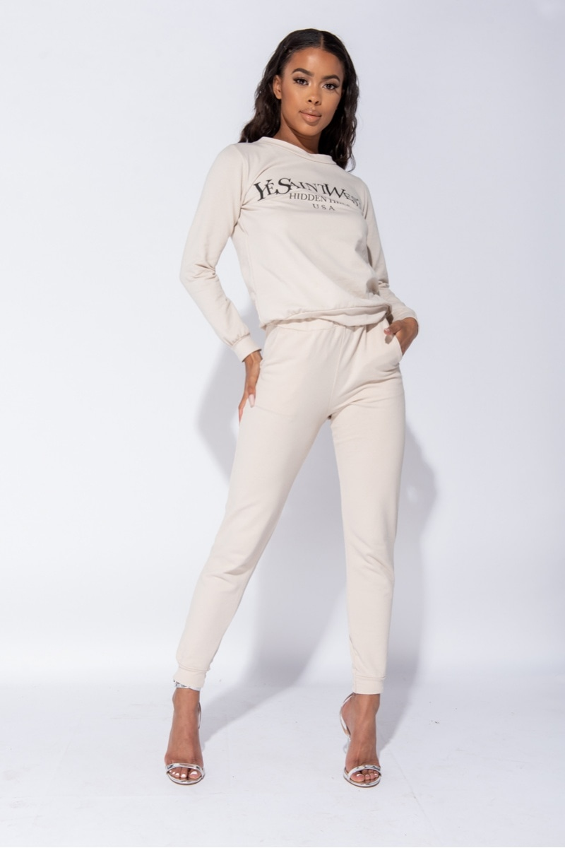 Ye Saint West Sweatshirt and Jogger Pants Set